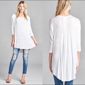 Tops - BASIC white tunic top